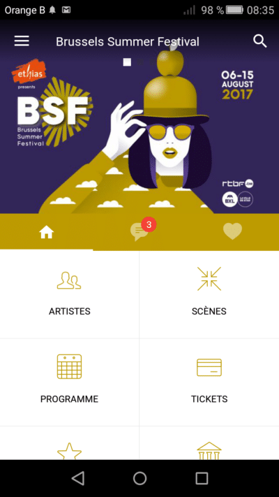 Application mobile Brussels Summer Festival